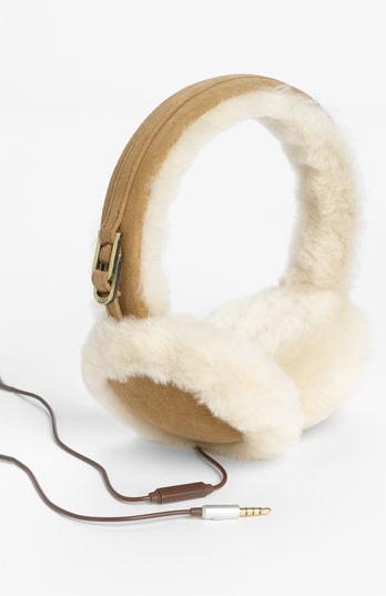 UGG- Australia Leather & Shearling Tech Earmuffs - Nordstrom